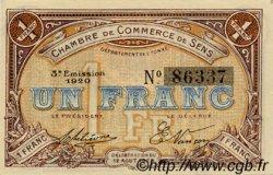 1 Franc FRANCE régionalisme et divers Sens 1920 JP.118.12 SPL à NEUF
