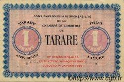 1 Franc FRANCE régionalisme et divers TARARE 1920 JP.119.08 TTB à SUP