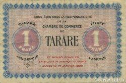 1 Franc FRANCE régionalisme et divers Tarare 1920 JP.119.08 TB