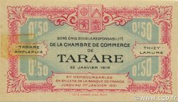 50 Centimes FRANCE régionalisme et divers TARARE 1916 JP.119.16 SPL à NEUF