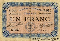 1 Franc FRANCE régionalisme et divers TARARE 1917 JP.119.24 TB