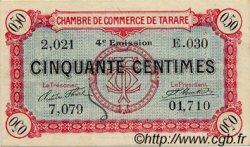 50 Centimes FRANCE régionalisme et divers TARARE 1922 JP.119.32 TTB à SUP