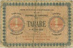 1 Franc FRANCE régionalisme et divers TARARE 1922 JP.119.34 TB