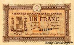1 Franc FRANCE régionalisme et divers Tarbes 1915 JP.120.05 TTB à SUP