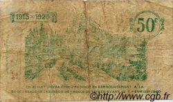 50 Centimes FRANCE régionalisme et divers TARBES 1915 JP.120.08 TB