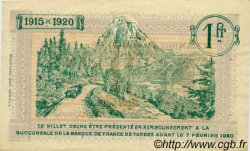 1 Franc FRANCE régionalisme et divers TARBES 1915 JP.120.10 TTB à SUP