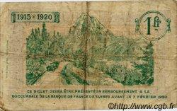 1 Franc FRANCE régionalisme et divers TARBES 1915 JP.120.10 TB