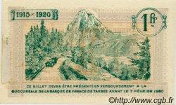 1 Franc FRANCE régionalisme et divers TARBES 1915 JP.120.11 TTB à SUP