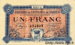 1 Franc FRANCE régionalisme et divers TARBES 1917 JP.120.14 TTB à SUP