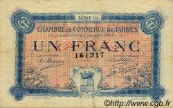 1 Franc FRANCE régionalisme et divers TARBES 1917 JP.120.14 TB