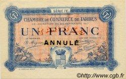 1 Franc FRANCE régionalisme et divers Tarbes 1917 JP.120.19 SPL à NEUF