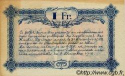 1 Franc FRANCE régionalisme et divers TARBES 1917 JP.120.19 TTB à SUP
