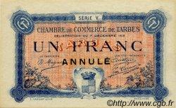 1 Franc FRANCE régionalisme et divers TARBES 1919 JP.120.23 SPL à NEUF