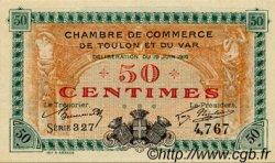 50 Centimes FRANCE régionalisme et divers Toulon 1916 JP.121.01 SPL à NEUF