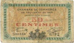 50 Centimes FRANCE régionalisme et divers Toulon 1916 JP.121.01 TB