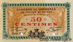 50 Centimes FRANCE régionalisme et divers TOULON 1916 JP.121.02 TTB à SUP
