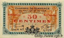 50 Centimes FRANCE régionalisme et divers TOULON 1917 JP.121.14 SPL à NEUF