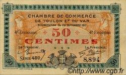 50 Centimes FRANCE régionalisme et divers Toulon 1917 JP.121.18 TTB à SUP