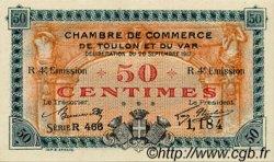 50 Centimes FRANCE régionalisme et divers TOULON 1917 JP.121.22 SPL à NEUF