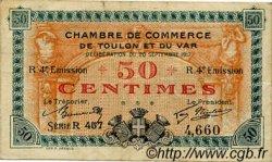 50 Centimes FRANCE régionalisme et divers TOULON 1917 JP.121.22 TB