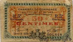 50 Centimes FRANCE régionalisme et divers TOULON 1919 JP.121.28 TB