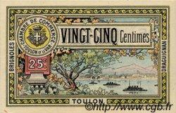 25 Centimes FRANCE régionalisme et divers Toulon 1921 JP.121.32 SPL à NEUF