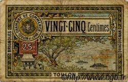 25 Centimes FRANCE régionalisme et divers Toulon 1921 JP.121.33 TB