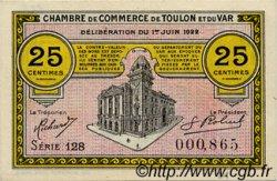 25 Centimes FRANCE régionalisme et divers Toulon 1922 JP.121.34 SPL à NEUF