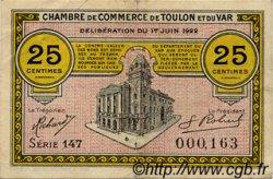 25 Centimes FRANCE régionalisme et divers TOULON 1922 JP.121.34 TTB à SUP