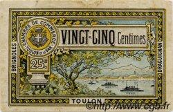 25 Centimes FRANCE régionalisme et divers Toulon 1922 JP.121.34 TB