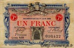 1 Franc FRANCE régionalisme et divers TOULON 1922 JP.121.36 TTB à SUP
