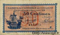 50 Centimes FRANCE régionalisme et divers TOULOUSE 1914 JP.122.08 TB