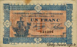1 Franc FRANCE régionalisme et divers TOULOUSE 1914 JP.122.14 TB