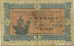 1 Franc FRANCE régionalisme et divers TOULOUSE 1914 JP.122.20 TB