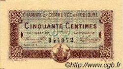 50 Centimes FRANCE régionalisme et divers TOULOUSE 1917 JP.122.22 TTB à SUP