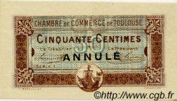 50 Centimes FRANCE régionalisme et divers TOULOUSE 1917 JP.122.24 SPL à NEUF