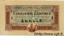 50 Centimes FRANCE régionalisme et divers Toulouse 1917 JP.122.24 TTB à SUP
