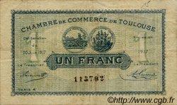 1 Franc FRANCE régionalisme et divers Toulouse 1917 JP.122.27 TB