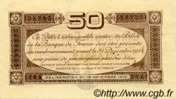 50 Centimes FRANCE régionalisme et divers Toulouse 1919 JP.122.34 TTB à SUP