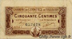 50 Centimes FRANCE régionalisme et divers Toulouse 1919 JP.122.34 TB