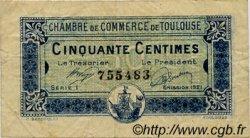50 Centimes FRANCE régionalisme et divers Toulouse 1920 JP.122.39 TB