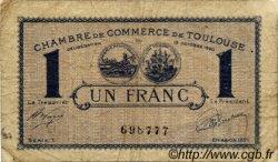 1 Franc FRANCE régionalisme et divers TOULOUSE 1920 JP.122.41 TB