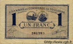 1 Franc FRANCE régionalisme et divers Toulouse 1920 JP.122.43 TB
