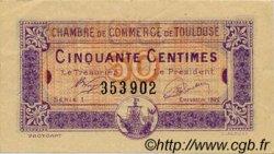 50 Centimes FRANCE régionalisme et divers Toulouse 1922 JP.122.44 TTB à SUP