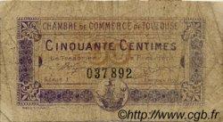 50 Centimes FRANCE régionalisme et divers Toulouse 1922 JP.122.44 TB