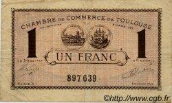 1 Franc FRANCE régionalisme et divers TOULOUSE 1922 JP.122.45 TB
