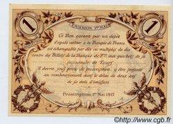 1 Franc FRANCE régionalisme et divers Tours 1915 JP.123.01 SPL à NEUF