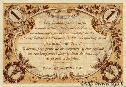 1 Franc FRANCE régionalisme et divers Tours 1915 JP.123.01 TTB à SUP