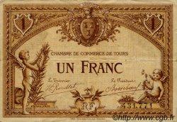 1 Franc FRANCE régionalisme et divers TOURS 1915 JP.123.01 TB