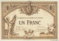 1 Franc FRANCE régionalisme et divers TOURS 1915 JP.123.02 SPL à NEUF